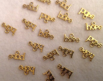 Hope Charms (20) in Gold Tone