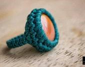 Macrame Ring, Crochet Rin...