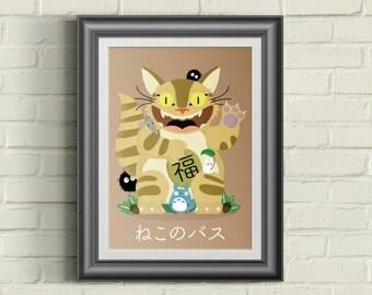 Cat Bus & Friends Maneki-Neko