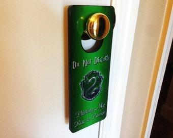 Slytherin Door Hanger Do Not Disturb Plotting My Rise to Power