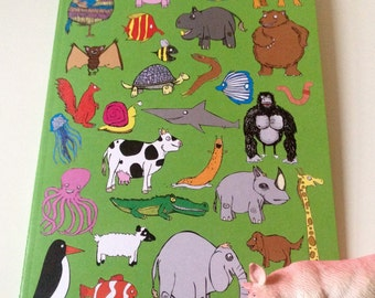 Animals Notebook Notepad DoodlePad Jotter Sketchbook. 48 Blank Pages Teady For Your Masterpieces