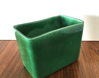 Vintage Emerald Rectangular Planter