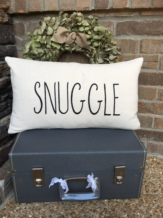 Pillow Cover Snuggle Pillow Cover Farmhouse Style Pillow