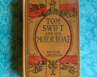 "Vintage Tom Swift Children's Book 1910's,  ""Tom Swift and Motor Boat"""