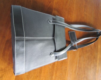 French Guy Laroche Black Leather Handbag