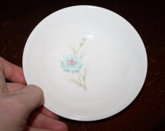 Blue Flower Floral Small Dessert BOWL Ever Your Boutonniere Taylor Smith