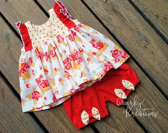 Rosey Posey shorts set size 9-12 months