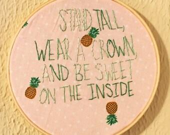 Pineapple stitch