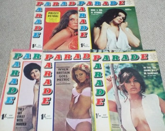 Parade - 5 Issues of 1968/69 Vintage Mens Magazine (e)