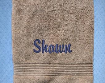 Bath Towel - Monogrammed Bath Towel for  College Students  - Bath Towel for College - Dorm Bath Towel - Residence Hall Shower Towel