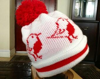 Robin Winter Bobble Hat