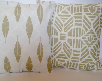 SALE! Gold Feathers Pillow Cover