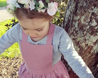 Girls Blush Pinafore (1 - 5 years) - Made to order - Handmade - Girls Dress - Pinafore - Blush Pinafore - Blush Dress - Toddler Dress