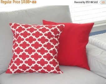 SALE Red Pillow Cover, Pillows, Decorative Pillows, Christmas Pillow, Decorative Throw Pillows, Solid Red Pillows, Throw Pillows, FAST SHIPP