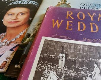 vintage book, royal wedding books, queens silver jubilee, royal family, collectors book, vintage postcards, royal memorabilia, vintage 1947