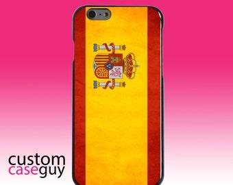 Hard Snap-On Case for Apple 5 5S SE 6 6S 7 Plus - CUSTOM Monogram - Any Colors - Spain Old Spanish Flag
