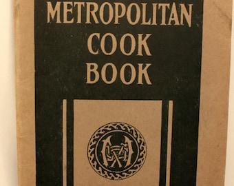 Vintage Metropolitan Cookbook 1922 Softcover Advertising Insurance Premium