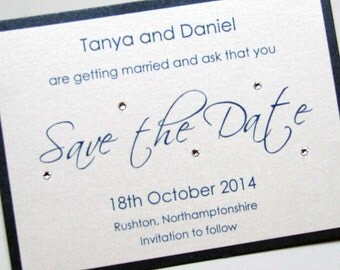 Wedding Save the Date with Crystals