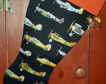 Airplane  Christmas Stocking
