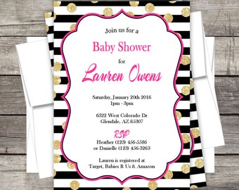 Bridal Shower Invitation Birthday Baby Shower Bridal Customized for you DIY or PRINTED Available in BLUE