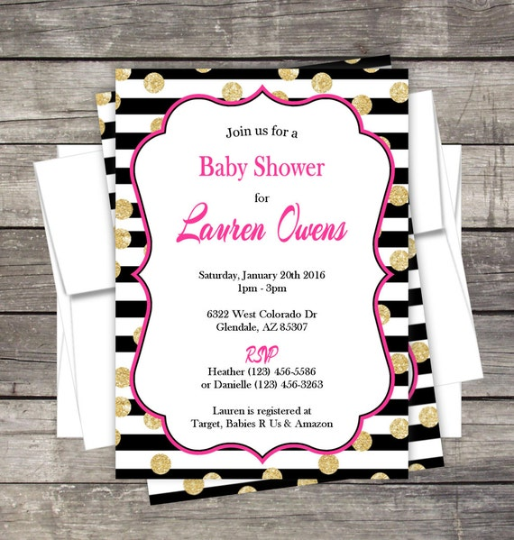 bridal shower invitation birthday baby shower bridal customized for