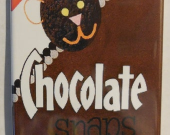 "Nabisco Chocolate Snaps 2"" x 3"" Fridge Magnet Art Vintage cookies"