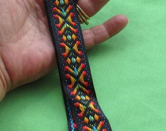 Vintage Piece Of Jacquard Colorful Ribbon