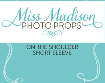 ON the SHOULDER Short Sleeves/ Short Sleeves Add On Item/ Maternity Gown/ Maternity Dress/ Photo Prop/ Photography-