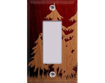 Wood Grain Tree Silhouette Single Rocker/GFI Cover