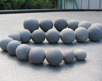 "20 Stones 3/4""- 2"" Round Stones,Painting Stones, Fairy Stones, Smooth, Round Beach Rocks, Wishing Stones, Wedding Decor"