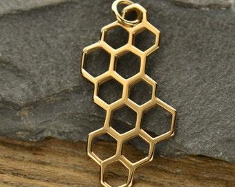 Natural Bronze Honeycomb Charm