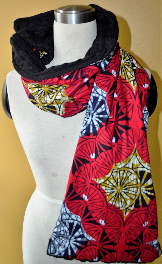 Red shade- winter scarf