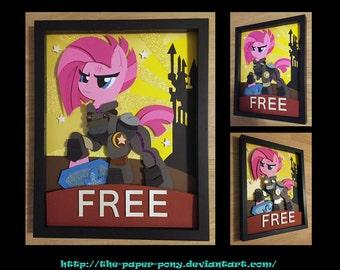 """11""""x14"""" War Pinkie Pie Poster Shadowbox"""