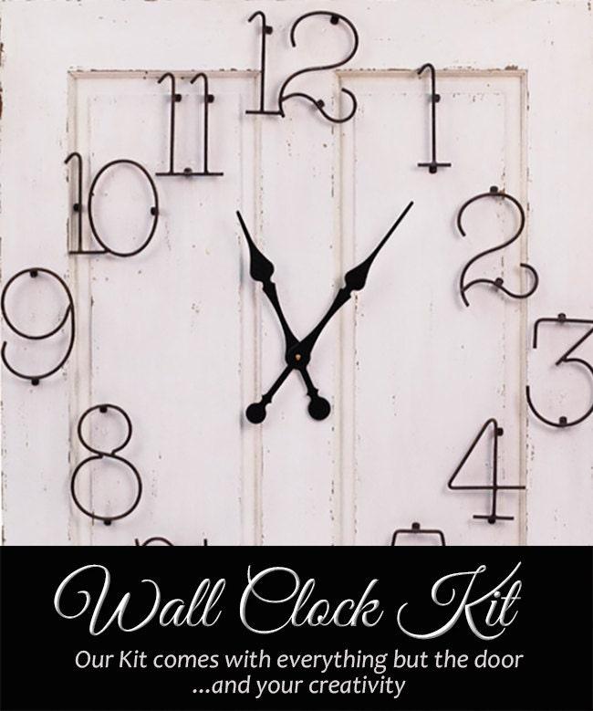 Large Clock Kit Make Your Own Wall Clock Old Door Clock