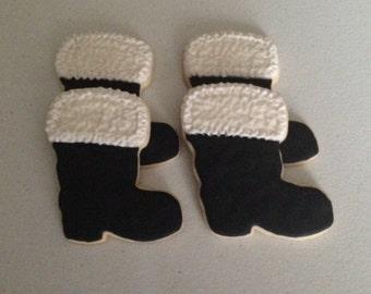 Santa's Boot Sugar Cookies