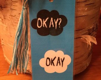 The Fault In Our Stars 'Okay? Okay' Bookmark FREE SHIPPING in USA