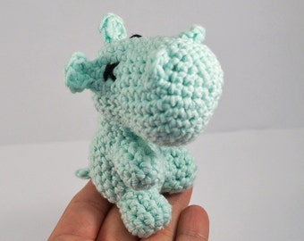 Crocheted Hippo