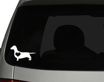 Dachshund with heart- Vinyl Decal