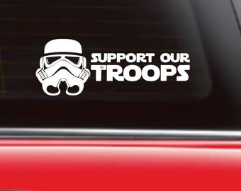 Star Wars Car Decal, Support Our Troops, Storm trooper