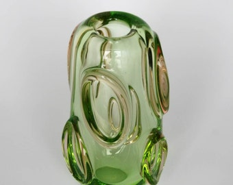 Retro Mid Century Czech Glass Vase