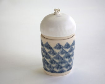 ceramic box , handmade