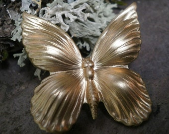 Raw Brass Stamping Butterfly Bug