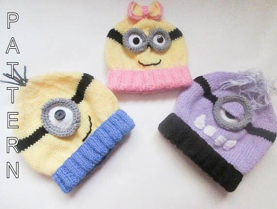Knitting Pattern Minion Hat PATTERN Baby by WistfullyWoolen