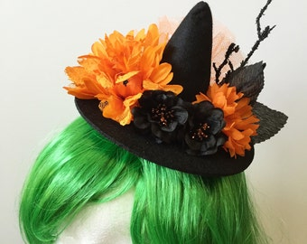 Halloween Witch Hat Hair Clip, Halloween Accessories, Tiny Witch Hat
