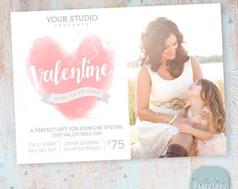 Valentine Photography Marketing Template  -  Mini Sessions - Photoshop template - IV015 - INSTANT DOWNLOAD