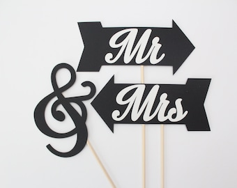 Mr & Mrs Photo Booth Props