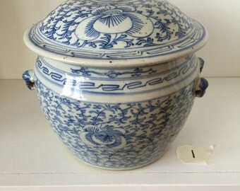 Kangxi Blue and White Covered Jar