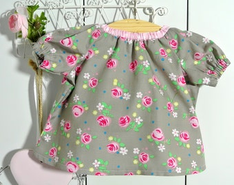 Dress with sleeves, Waldorf doll 16 inch