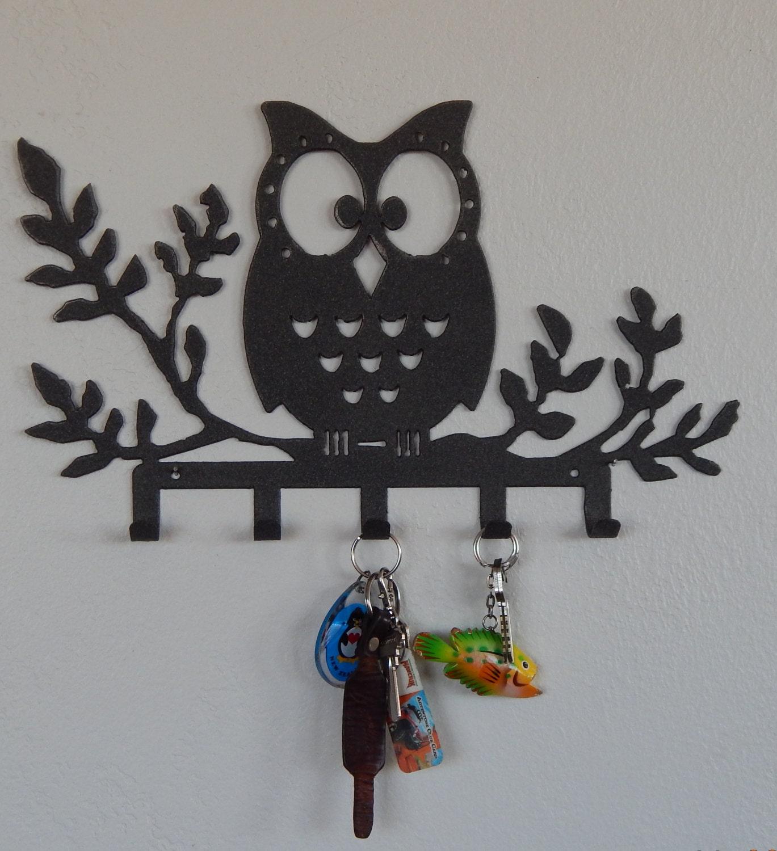 Key Holder Owl key rack key organizer jewelry holder wall