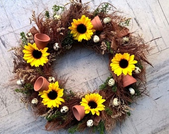"""16"""" Spring Wreath - Dried Floral Wreath - Spring Decoration"""
